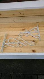 Pair of Hanging basket brackets