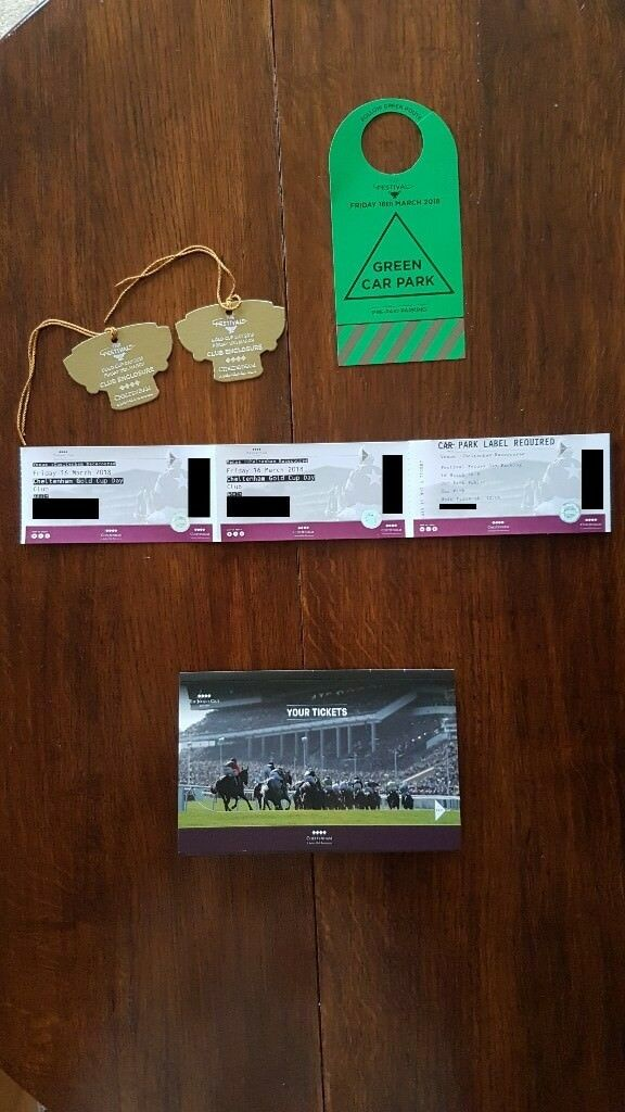 Cheltenham Gold Cup 2 Tickets Club Enclosure + Car Park Pass quick ...