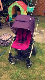 Mama and papa stroller