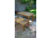 garden table and 2 benches not chairs bench
