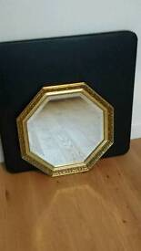 Pair of matching elegant antique-style hall bevelled mirrors.