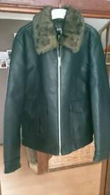 River Island New leather jacket size L Chest 110cm