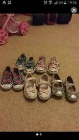 Girls shoes and slippers joblot size 7 infant.