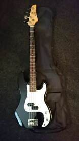 Electric Bass Guitar and bag