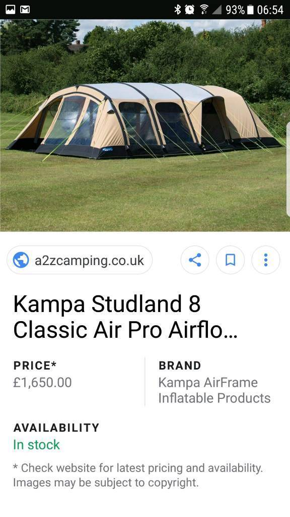 Studman kampa 8 berth air tent | in Leicester, Leicestershire | Gumtree