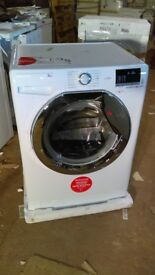 HOOVER 8KG WASHING MACHINE with chrome door new ex display