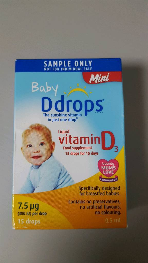 Vitamin D drops for breastfeed babies