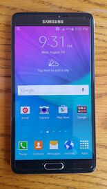 SAMSUNG GALAXY NOTE 4 BLACK (UNLOCKED)