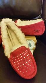 Genuine ugg slippers with swarovski crystals