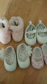 Baby girls 0-6m pram shoes bundle