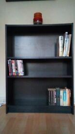 Billy Bookcase - Black/Brown, 80cm wide, adjustable shelves