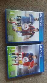 PS4 games FIFA 15 & 16