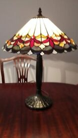 Pair Large Tiffany Style Lamps