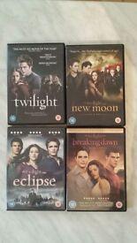 Twilight movies on DVD