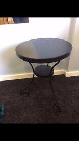 Black Round Metal Table