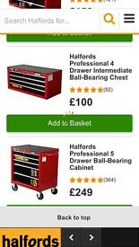 Halfords Professional tool chests (4, 5 & 7 drawers)
