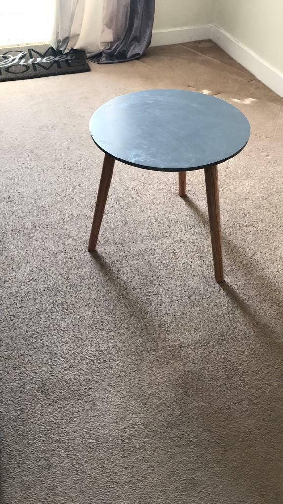 Small grey top lamp table
