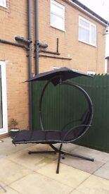 HELICOPTER SWING CHAIR BLACK HOLDS WEIGHT UP TO 22 STONE EXCELLENT CONDITION