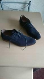 Next Italian new blue suade shoes