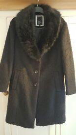 Betty Jackson Black ladies coat size 14