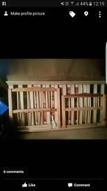 Toddler pine bed frame