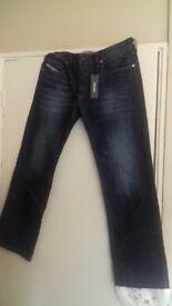 BNWT men's diesel zatiny jeans 32w 30l regular