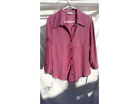 Select Two-Tone Purple & Mauve Ladies Blouse