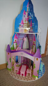 EXCELLENT 3 STOREY DOUBLE SIDED DOLLS HOUSE - BT8