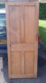 Small stripped Wood Panel Internal Door