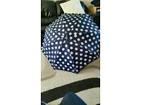 As new spotty umbrella