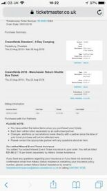 3 x STANDARD Creamfields tickets (4 DAY CAMPING)