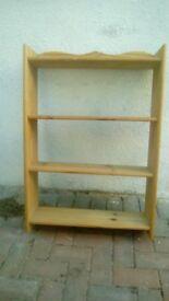 Strong wood 4 shelf unit
