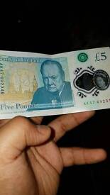 Rare 5 pound note AK47