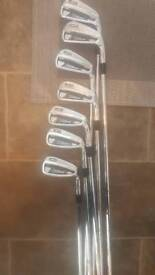 Full set of golf clubs with trolley