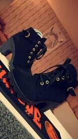 Black, heeled Boots