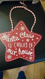 Christmas signs £1 each