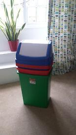 3 large rubbish bins,clean.