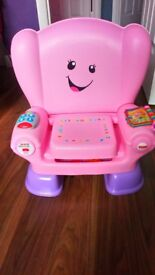 Fisher-Price pink chair