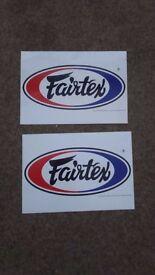 2x Large Fairtex stickers