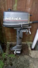 Mariner 4HP 2 Stroke Short Shaft Outboard.