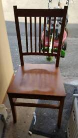 Table and chairs free solid wood pending collection