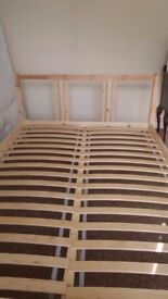 IKEA double bed wooden home furniture shabby chic student bedroom