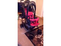 Duo Double Tandem Twin pushchair