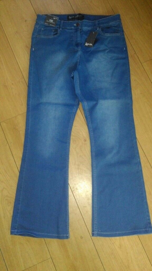 NEW SIMPLY BE KIM HIGH WAIST STRETCH BOOTCUT JEANS SIZE 18