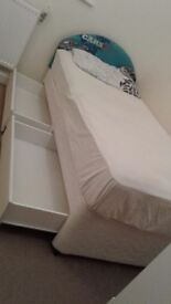 single divan bed , memory mattress