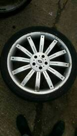 "22 tiger "" range rover silver alloy tyre single spare x1 only one tyre"