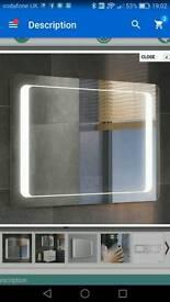 Modern slimline L.E.D bathroom light mirror