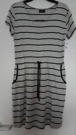 BRAND NEW WITH TAGS FAB Women's Elegant Casual Evening Party Dress Crew Neck Relaxed Fit Size L