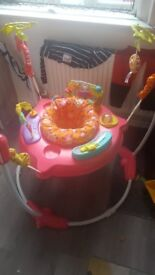 Pink jumperoo bouncer fisher price