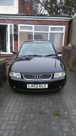 Navy blue Audi A3 1.9TDi for sale.